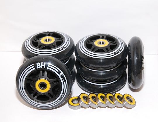 In-line sada koleček BH 80mm 84A 8ks + ABEC 9 16ks